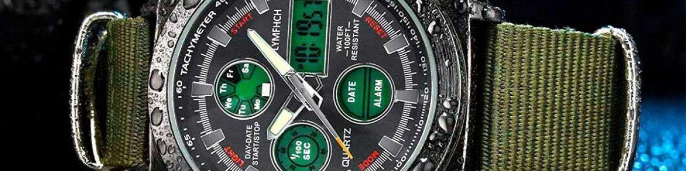 reloj acuático verde militar