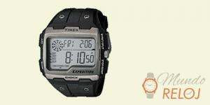 reloj timex táctico negro y plata multifunción